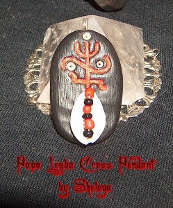 Papa Legba's Cross Pendant available at Sheloya Mystical