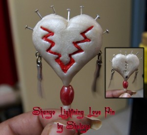 Shango Lighting Love Voodoo Doll Pin