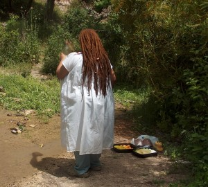 Sheloya Giving Offerings to Oshun
